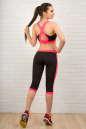 Лосины для фитнеса черного с розовым цвета 2313.67 No6|интернет-магазин vvlen.com