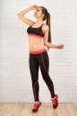 Лосины для фитнеса черного с розовым цвета No4|интернет-магазин vvlen.com