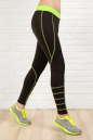 Лосины для фитнеса черного с зеленым цвета No1|интернет-магазин vvlen.com