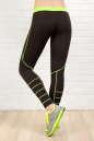 Лосины для фитнеса черного с зеленым цвета No2|интернет-магазин vvlen.com