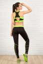 Лосины для фитнеса черного с зеленым цвета No5|интернет-магазин vvlen.com