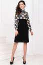 Повседневное платье с расклешённой юбкой черного с желтым цвета No1 интернет-магазин vvlen.com