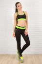 Лосины для фитнеса черного с зеленым цвета 2309.67 No3|интернет-магазин vvlen.com