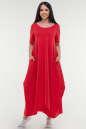 Летнее платье трапеция красного цвета 1719 it|интернет-магазин vvlen.com