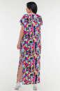 Летнее платье с длинной юбкой малинового с голубым цвета it 100 No1|интернет-магазин vvlen.com