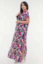 Летнее платье с длинной юбкой малинового с голубым цвета it 100 No2|интернет-магазин vvlen.com
