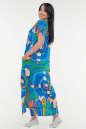 Летнее платье  мешок синего с зеленым цвета it 100 No2|интернет-магазин vvlen.com