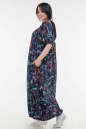 Летнее платье  мешок синего цветочного принта цвета No1|интернет-магазин vvlen.com
