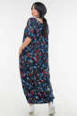 Летнее платье  мешок синего цветочного принта цвета No2|интернет-магазин vvlen.com