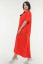 Летнее платье рубашка красного цвета No1|интернет-магазин vvlen.com