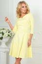 Повседневное платье с расклешённой юбкой желтого цвета|интернет-магазин vvlen.com