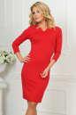 Офисное платье красного цвета|интернет-магазин vvlen.com