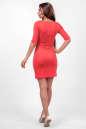 Повседневное платье футляр розового цвета No2|интернет-магазин vvlen.com