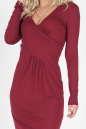 Повседневное платье футляр бордового цвета 876.17 No1|интернет-магазин vvlen.com