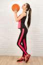 Майка для фитнеса черного с розовым цвета 2321.67 No4|интернет-магазин vvlen.com