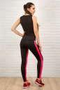 Майка для фитнеса черного с розовым цвета 2321.67 No5|интернет-магазин vvlen.com