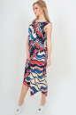 Летнее платье оверсайз синего с красным цвета No2|интернет-магазин vvlen.com