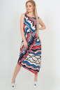 Летнее платье оверсайз синего с красным цвета No3|интернет-магазин vvlen.com
