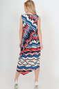 Летнее платье оверсайз синего с красным цвета No4|интернет-магазин vvlen.com