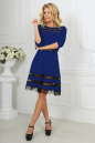 Коктейльное платье с расклешённой юбкой электрика цвета 1487-1.47 No1|интернет-магазин vvlen.com