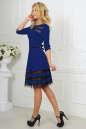 Коктейльное платье с расклешённой юбкой электрика цвета 1487-1.47 No2|интернет-магазин vvlen.com