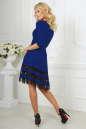 Коктейльное платье с расклешённой юбкой электрика цвета 1487-1.47 No3|интернет-магазин vvlen.com