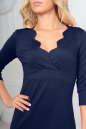 Повседневное платье футляр темно-синего цвета 2489.47 No4|интернет-магазин vvlen.com