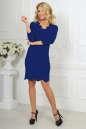 Повседневное платье футляр электрика цвета 2489.47 No2|интернет-магазин vvlen.com
