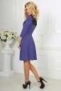Коктейльное платье с расклешённой юбкой сиреневого с черным цвета 2482.47 No2|интернет-магазин vvlen.com