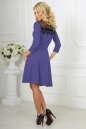 Коктейльное платье с расклешённой юбкой сиреневого с черным цвета 2482.47 No3|интернет-магазин vvlen.com