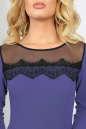 Коктейльное платье с расклешённой юбкой сиреневого с черным цвета 2482.47 No4|интернет-магазин vvlen.com