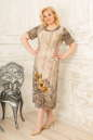 Летнее платье коричнево-желтого тона цвета 2334.5 d22|интернет-магазин vvlen.com