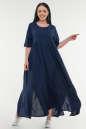 Летнее платье балахон темно-синего цвета 226-1 it|интернет-магазин vvlen.com