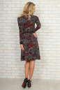 Повседневное платье с юбкой на запах бордового c черным цвета No2|интернет-магазин vvlen.com