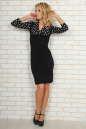 Офисное платье футляр черного с белым цвета 454.2 No1|интернет-магазин vvlen.com