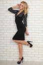Офисное платье футляр черного с белым цвета 454.2 No2|интернет-магазин vvlen.com