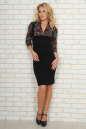 Офисное платье футляр черного с бордовым цвета No1|интернет-магазин vvlen.com