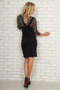 Офисное платье футляр черного с бордовым цвета No3|интернет-магазин vvlen.com
