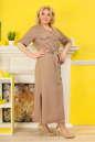Платье рубашка капучино цвета  No1|интернет-магазин vvlen.com