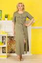 Платье рубашка хаки цвета |интернет-магазин vvlen.com
