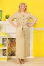 Летнее платье рубашка бежевого цвета|интернет-магазин vvlen.com