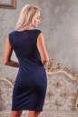 Коктейльное платье футляр синего цвета No3|интернет-магазин vvlen.com