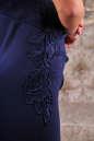 Коктейльное платье футляр синего цвета No4|интернет-магазин vvlen.com