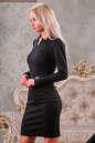 Офисное платье футляр черного цвета No1|интернет-магазин vvlen.com