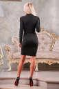 Офисное платье футляр черного цвета No2|интернет-магазин vvlen.com