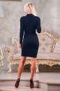Офисное платье футляр синего цвета No2|интернет-магазин vvlen.com
