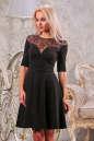 Коктейльное платье с расклешённой юбкой черного цвета 1666.47 No0|интернет-магазин vvlen.com