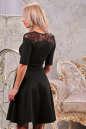 Коктейльное платье с расклешённой юбкой черного цвета 1666.47 No2|интернет-магазин vvlen.com