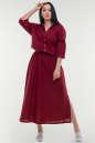 Летнее платье с длинной юбкой бордового цвета No0|интернет-магазин vvlen.com