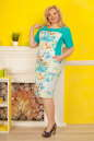 Летнее платье футляр голубого тона цвета 2335.9 d15|интернет-магазин vvlen.com